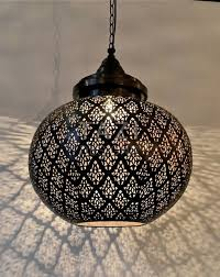 Sphere Ceiling Light Modern Moroccan Pendant Light Dahon Sphere Tazi Designs