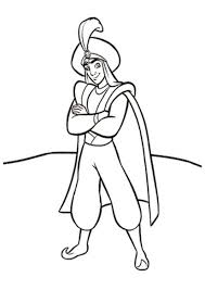 aladdin dresses as prince coloring pages