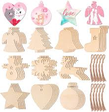what is the best way to paint unfinished kitchen cabinets wooden crafts to paint 50pcs diy wooden ornaments for birthday gift hanging ornaments unfinished wood slices craft with