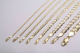 solid gold chain necklace images Gold authentic 10k solid gold men 039 s women cuban link chain jpg
