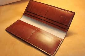 leather women s wallet pattern making a leather long wallet simple youtube