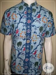 desain baju batik pria 2014 baju batik koko pria terbaru kerah shanghai modern ld989ctk m