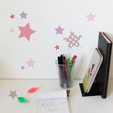 chambre fille etoile stickers chambre enfant étoiles roses motif enfant fille pour