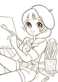 aeromachia shojo manga no memory this is few coloring pages from
