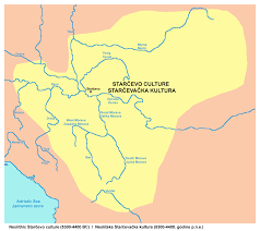 Southeastern Europe Map by Old European Culture Blagotin
