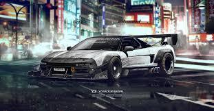 honda custom car honda nsx inbound racer by yasiddesign on deviantart