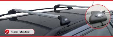 porta pacchi auto barre portatutto per auto con reling standard corrimano