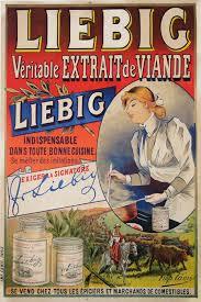 affiche cuisine retro liebig véritable extrait de viande affiche publicitaire ancienne