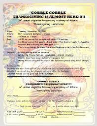 2011 thanksgiving luncheon notice