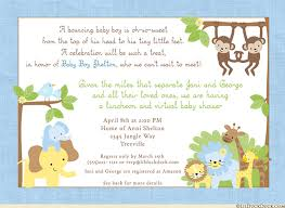 baby shower lunch invitation wording jungle safari shower invitation baby monkey elephant lion