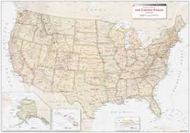 us map equator antique style usa political wall map by equator maps from maps
