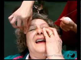 eyebrow threading is but to