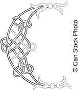 celtic knots alphabet letters vector clipart royalty free 98