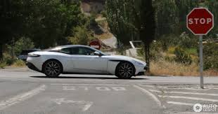 aston martin blacked out black and white aston martin db11 pair spotted in spanish traffic