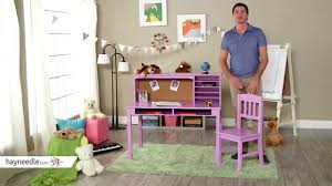 desk and chair set guidecraft media desk chair set lavendar product review video