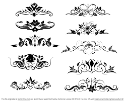 great pack of 10 ornamental vector dividers with floral elements