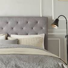 Grey Tufted Headboard Modern Gray Button Tufted Upholstered Padded