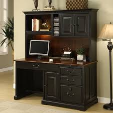 Staples Computer Desk With Hutch by Black Wooden Computer Desk With Four Hutch Also Storage And
