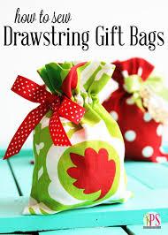 cloth gift bags drawstring fabric gift bag tutorial
