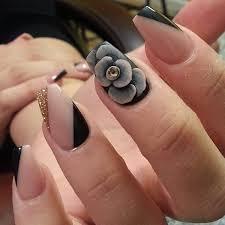 55 seasonal fall nail art designs grey flowers beads and gray