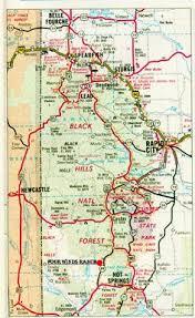 south dakota road map black recreational map south dakota vacation