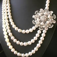 vintage style necklace images Statement wedding necklace pearl bridal jewelry vintage style jpg