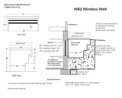 Basement Egress Window Requirements 3 Tier Window Well 62 U2033 Atlas Concrete