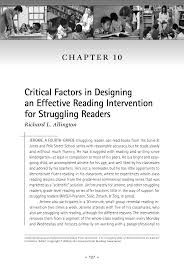 Sustained Silent Reading Worksheet Critical Factors In Designing An Effective Reading Intervention