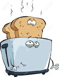 Toasters Toast Toast Toaster On A White Background Vector Illustration Royalty Free