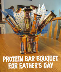 father u0027s day gift for the healthy dad protein bar bouquet bar
