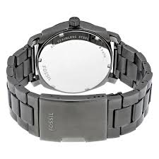 fossil man bracelet images Fossil machine black dial smoke ip stainless steel men 39 s watch jpg