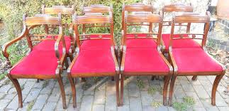 Antique Regency Dining Chairs Dining Chairs A Set Of 6 Regency Mahogany Dining Chairs Style