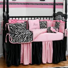 confortable pink and black zebra print bedding cute interior