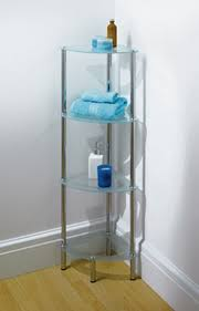 Glass Shelves For Bathrooms Simple Glass Shelves For Bathroom Corner With Small Shape Bathtub