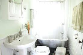 clawfoot tub bathroom ideas small clawfoot tub bathroom with small black bathtub also black