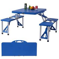 Plastic Folding Picnic Table Outdoor Foldable Portable Aluminum Plastic Picnic Table Cing W