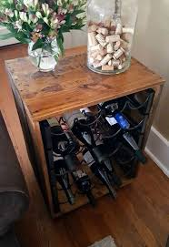 thrift store upcycle wine rack end table hometalk