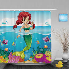 Disney Shower Curtains by Extremely Ideas The Little Mermaid Bathroom Decor Disney Princess