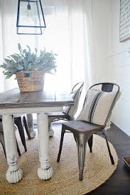 farmhouse table with metal chairs new rustic metal and wood dining chairs farmhouse table dining