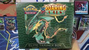 black friday pokemon cards pokemon cards roaring skies mega rayquaza elite trainer box
