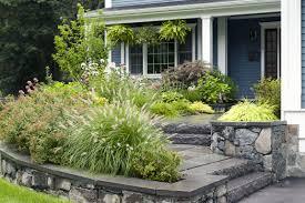 Suburban Backyard Landscaping Ideas by Front Entrance Landscape Ideas