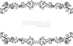 decorative ornamental frame for text with swirls vector