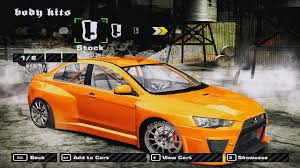 mod mobil mitsubishi lancer evolution x race nfsmw turbo90 blog