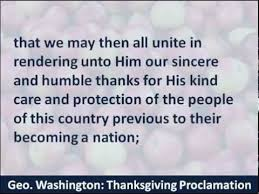thanksgiving proclamation george washington 1789 hear and