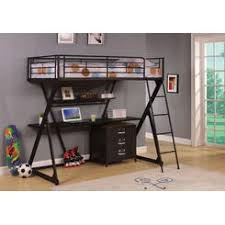 Bunk Bed With Desk And Futon Coaster Black Finish Metal Bunk Bed Futon Desk Chair