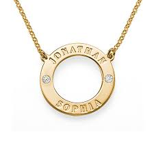 personalized necklaces gold plated personalized karma necklace with crystals