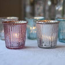 Light Holder Ribbed Mercury Glass Tea Light Holder By The Wedding Of My Dreams