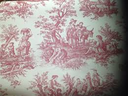 waverly wallpaper colonial country french toile white red