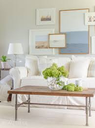 Modern Slipcovered Sofa by Living Room Update A Burst Of Beautiful