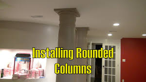 home theater install how to install rounded pillars the burke home theater project